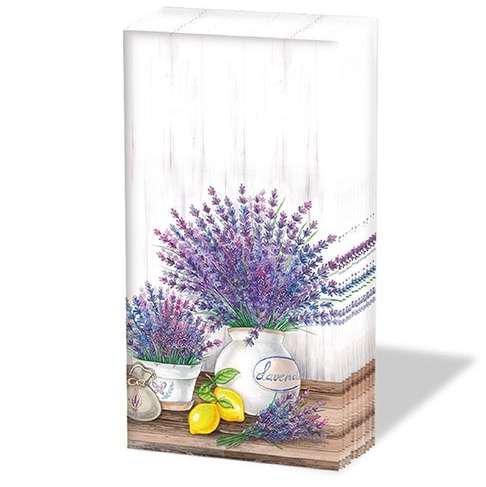 AMBIENTE 12211650 Lavender papírzsebkendő, 10db-os