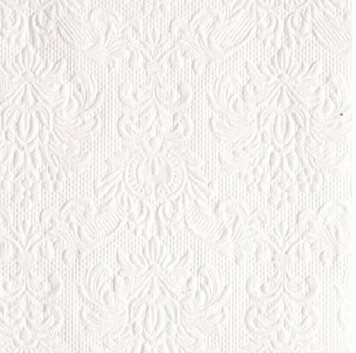 Ambiente 12504925 Elegance White papírszalvéta, kisebb, 25x25cm,15db-os