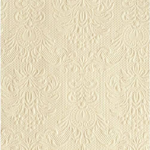 Ambiente 12504926 Elegance Cream papírszalvéta, kisebb, 25x25cm,15db-os