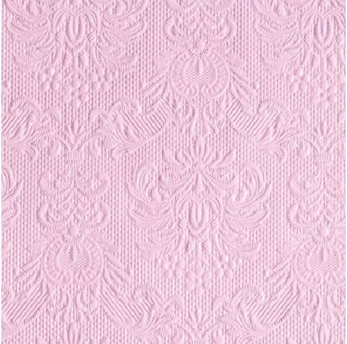 Ambiente 12504928 Elegance Pink papírszalvéta, kisebb,  25x25cm,15db-os