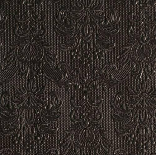 Ambiente 12504930 Elegance Black papírszalvéta kisebb, 25x25cm, 15db-os