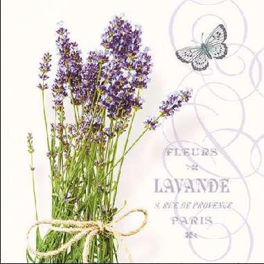 AMBIENTE 12511695 Bunch of Lavender papírszalvéta kisebb 25x25cm,20db-os