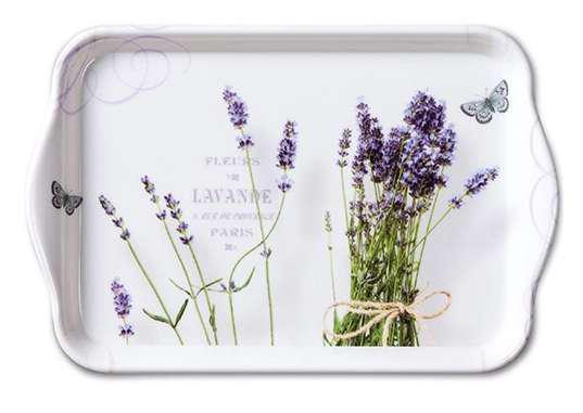 AMBIENTE 13711695 Bunch of Lavender műanyag kistálca 13x21cm