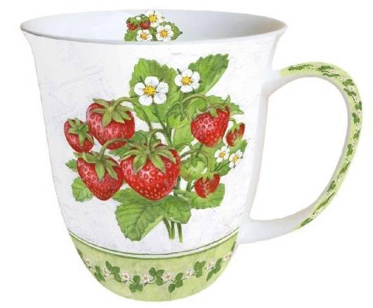 AMBIENTE 18410155 Season Fruit porcelán bögre 0,4l