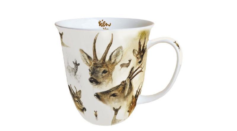 AMBIENTE 18411010 Portraits Of Deer porcelánbögre 0,4l