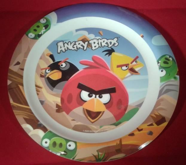 Angry birds lapostányér, műanyag, 22 cm, Q673145