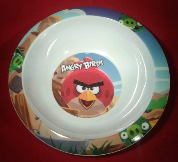 Angry birds peremes mélytányér, melamin, 16 cm, Q673144