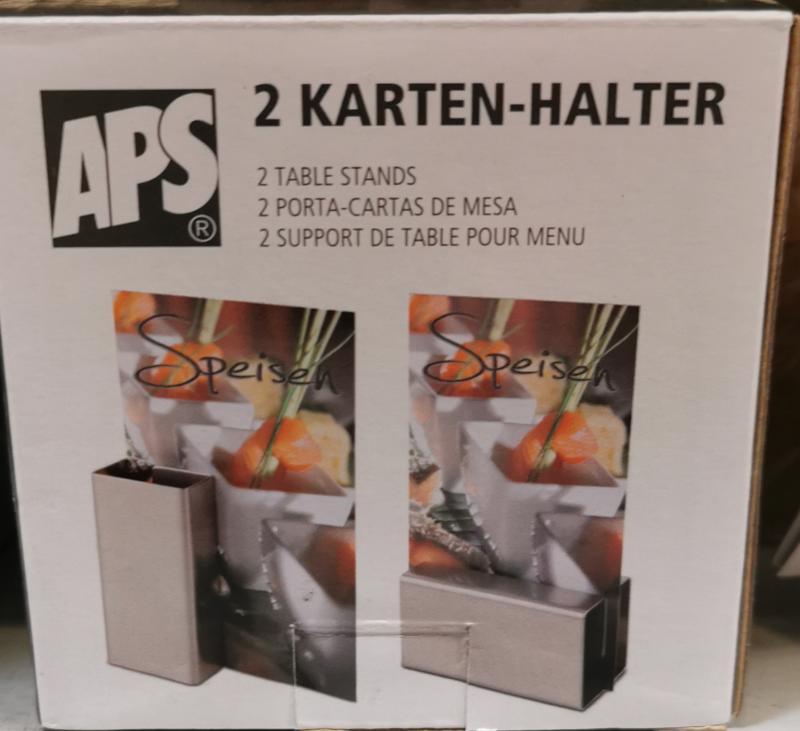 APS rozsdamentes asztali menütartó, 2 db, 8,5x4 cm