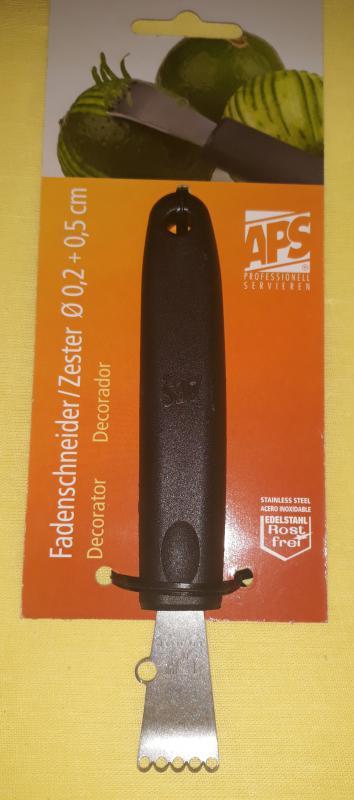 APS rozsdamentes citrom/narancshéjkaparó, 15 cm, 438122