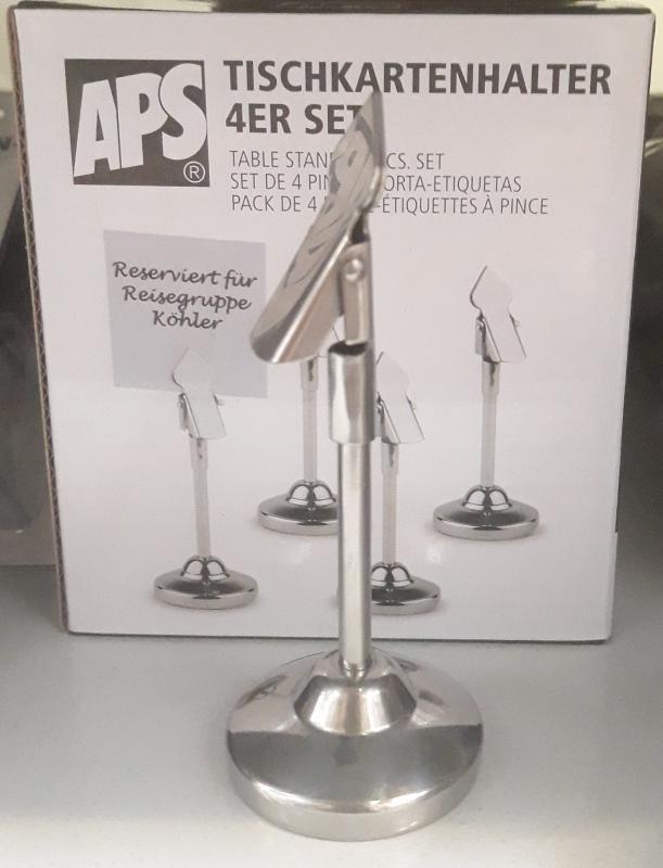 APS számlaptartó rozsdamentes, 10 cm,  4db csipesz, 438317