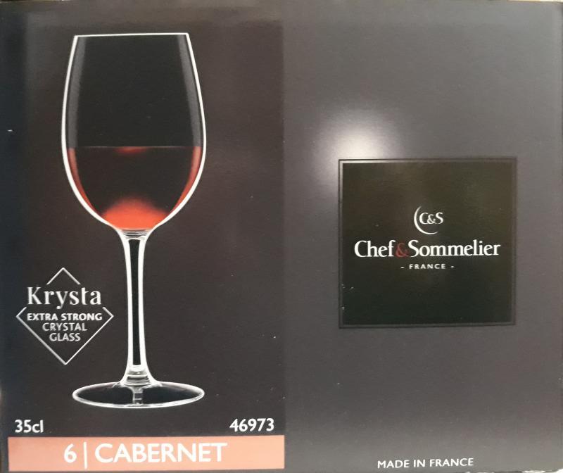ARCoroc Chef&Sommelier; Cabernet borospohár kehely (tulip), 35cl, 6 db,