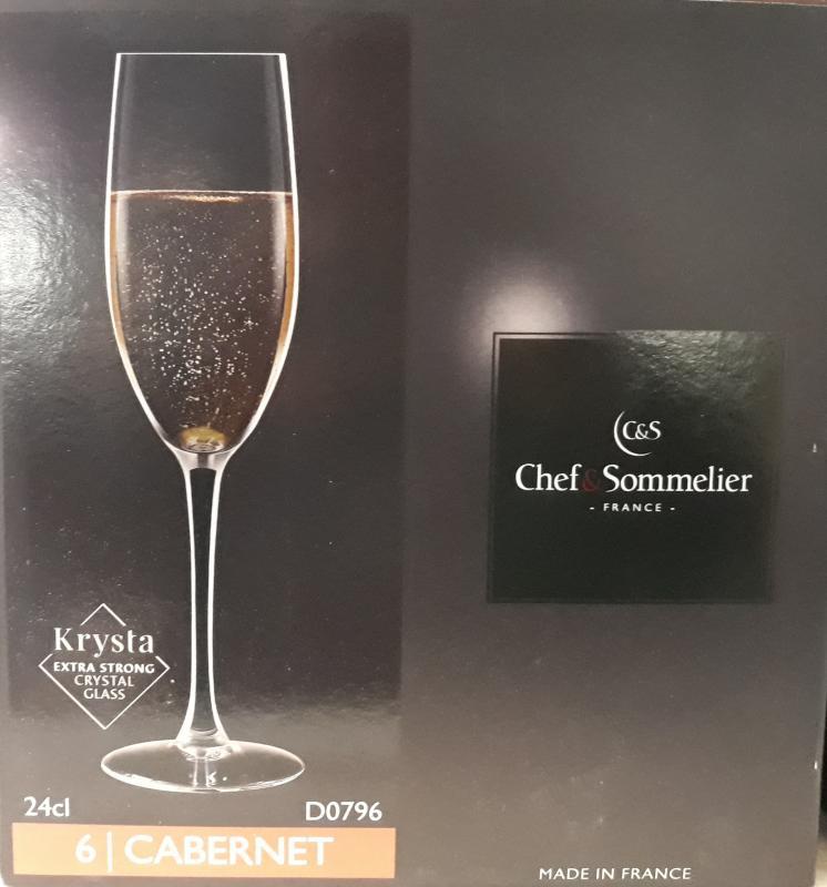 ARCoroc Chef&Sommelier; Cabernet pezsgős pohár, 24 cl, 6 db