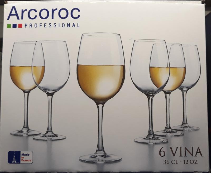 Arcoroc Vina boros pohár, 36 cl, 6 db, 502492