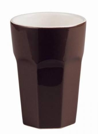 ASA Collection Ti Amo kerámia cappuccino pohár, sötétbarna, 25 cl, 415030