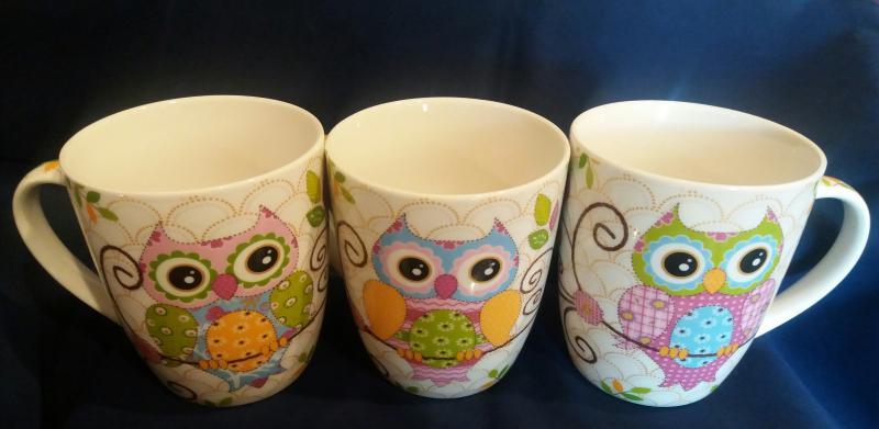 Baglyos porcelán bögre, 35 cl, 243070