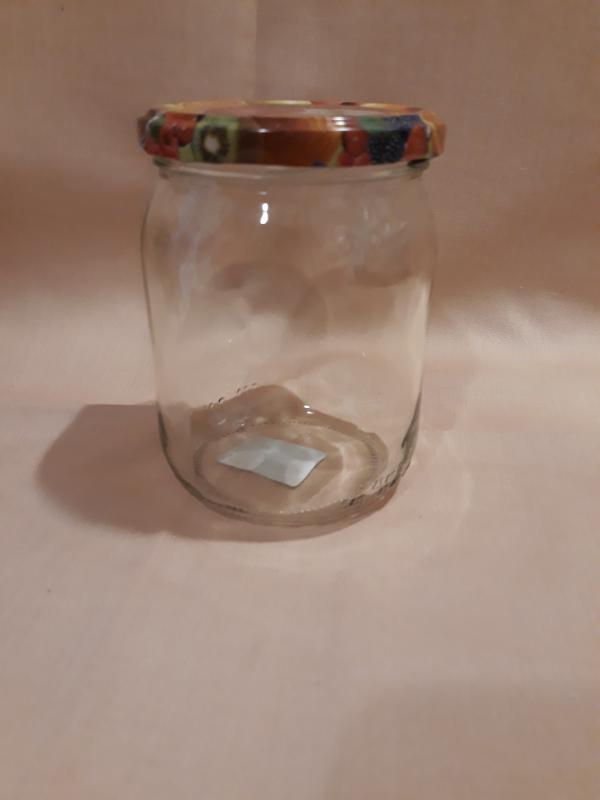 Befőttes üveg gyümölcsös tetővel, 0,5 liter, 714129