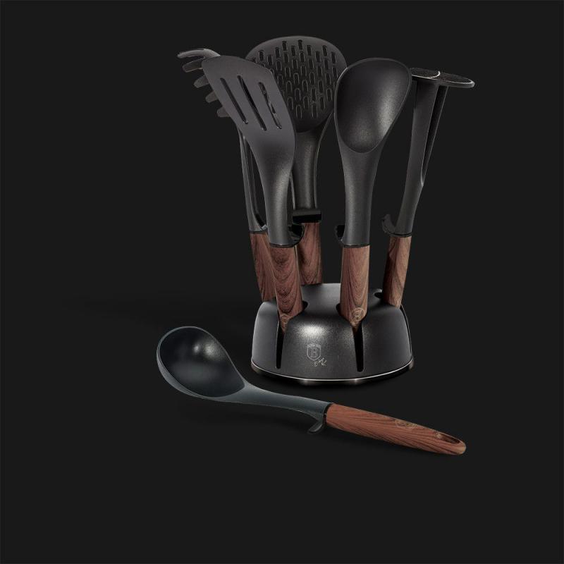 Berlinger Haus Ebony Rosewood állványos konyhai eszköz szett, 7 db, rózsafa,  BH-6229