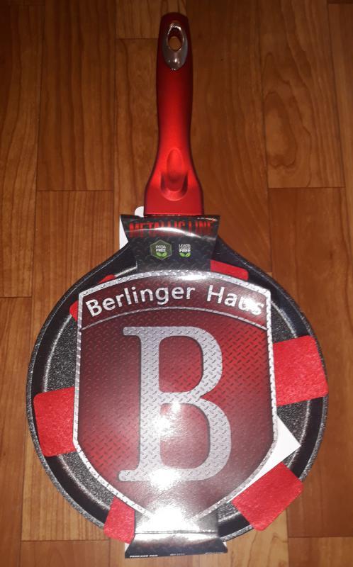 Berlinger Haus Metallic Line indukciós palacsintasütő, 25 cm, burgundy, 345238