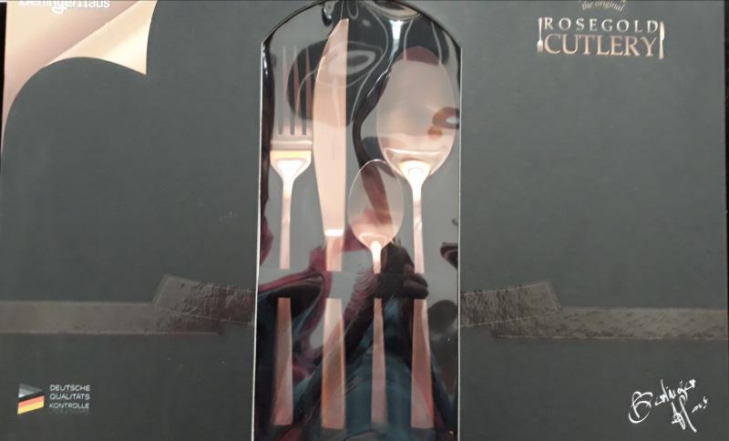 Berlinger Haus Rose Gold Satin ( matt arany) rozsdamentes evőeszköz, 24 db, BH-2353