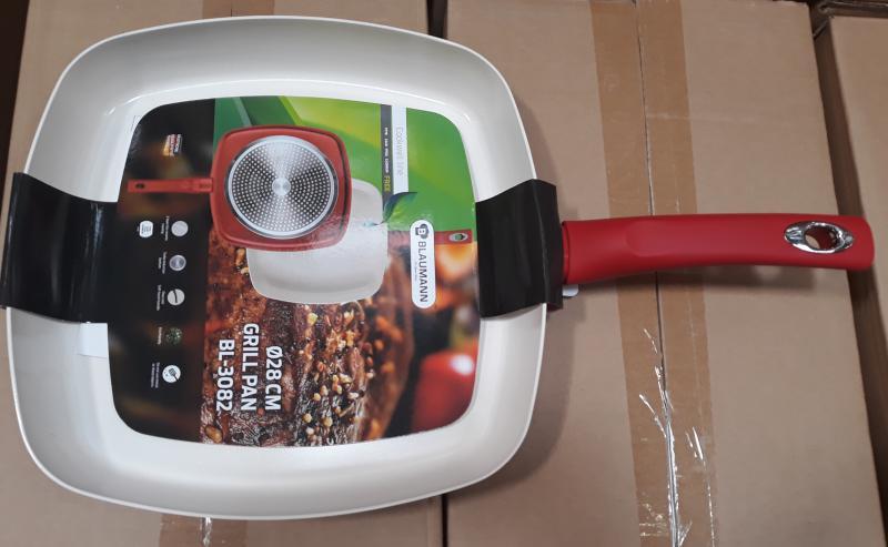 Blaumann Cookwell grill serpenyő, piros, 28 cm, 345212
