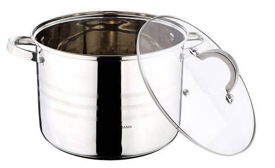 Blaumann Gourmet Line, rozsdamentes fazék+üvegfedő, 12,5 liter, BL-1012