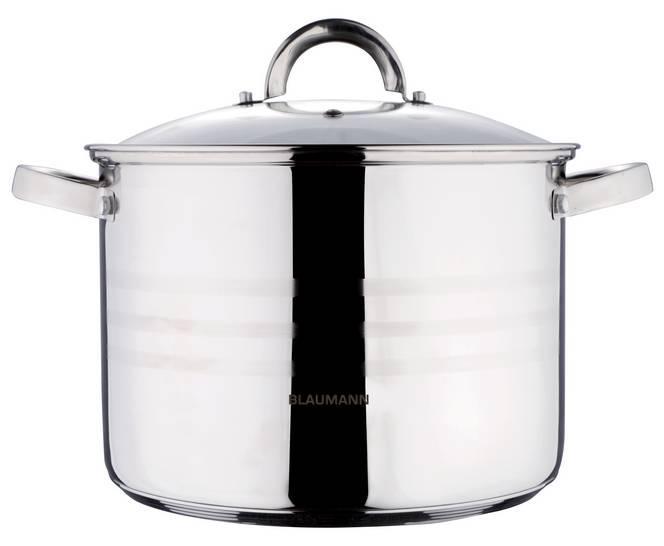 Blaumann Gourmet Line rozsdamentes fazék+üvegfedő, 20 cm, 4,3 liter, indukciós, BL-1008