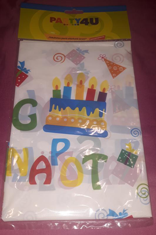 Boldog születésnapot asztalterítő, 130X180 cm