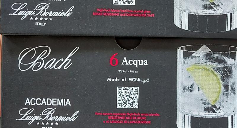 Bormioli Bach 25,5cl vizes pohár, Acqua, Juice, 6db