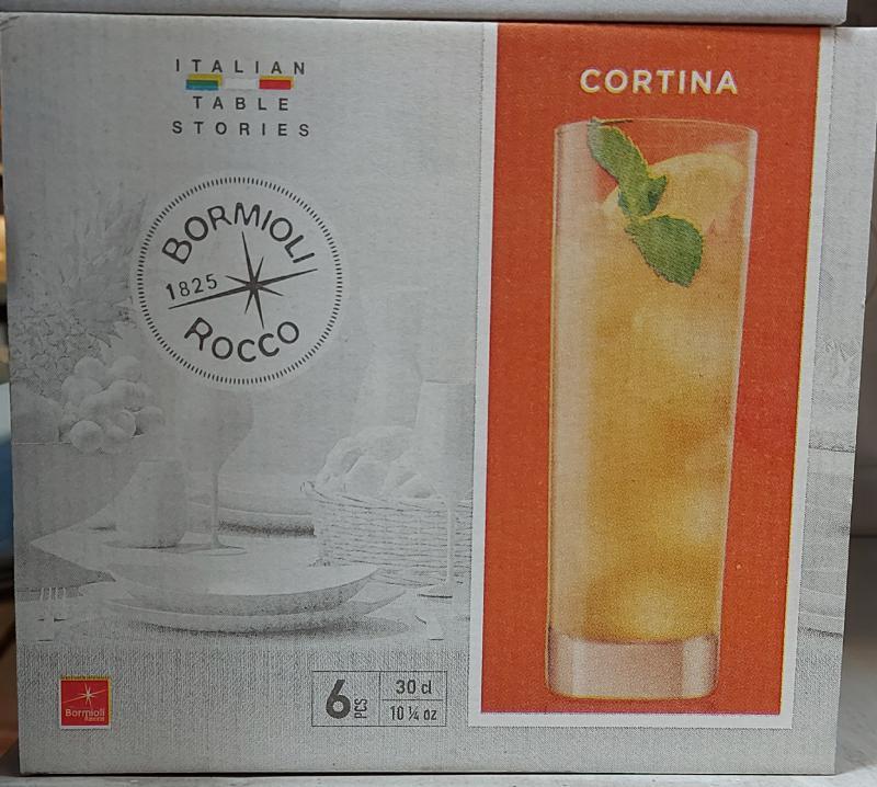 Bormioli Cortina üdítős pohár, átlátszó üveg, 30cl, 6db