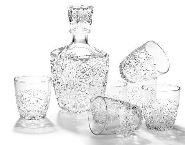 BORMIOLI Luxhem Dedalo, whiskys készlet, 7 részes, 119223