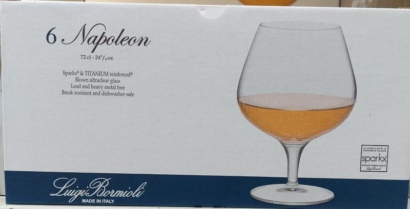 Bormioli Napoleon konyakos pohár, 72cl, 6db