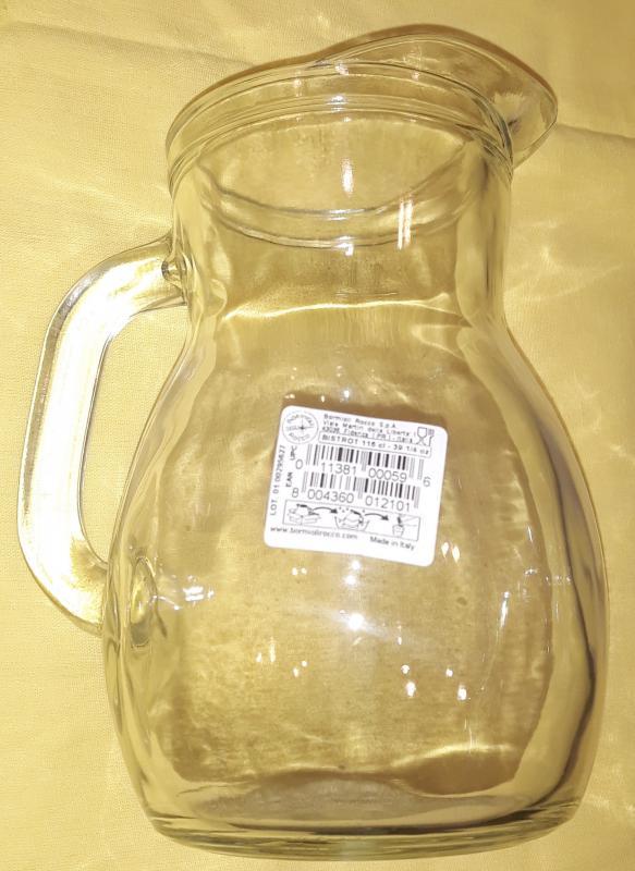 Bormioli Rocco Bistrot Brocca Caraffa kancsó, 1 literes, mértékjeles, 119133