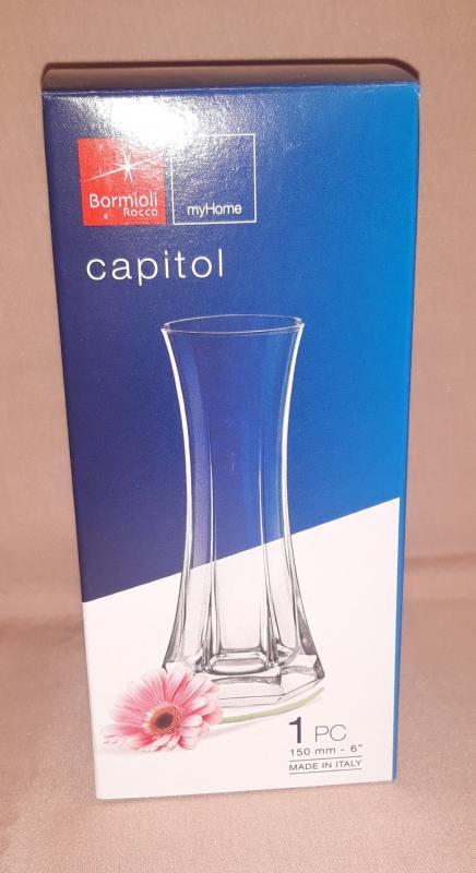 Bormioli Rocco Capitol üvegváza/virágváza, 15 cm, 119100