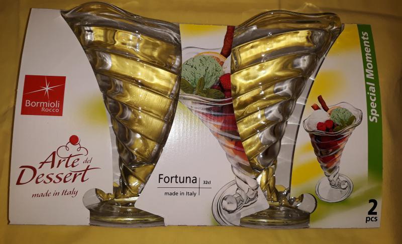 BORMIOLI ROCCO FORTUNA-TRANS fagylaltkehely, 32 cl, 2 db, 119441