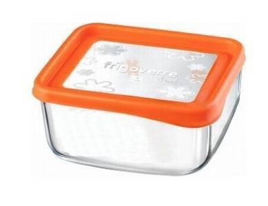 Bormioli Rocco Frigoverre Fun Arancio szögletes doboz, 15x15 cm, narancs, 119804