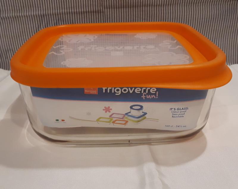 Bormioli Rocco Frigoverre Fun Arancio, szögletes doboz, 19x19 cm, narancs,119805