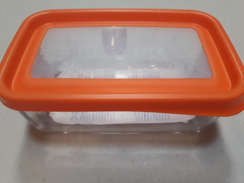 Bormioli Rocco Frigoverre Fun Arancio, tégl. doboz, 21x13 cm, narancs, 119806