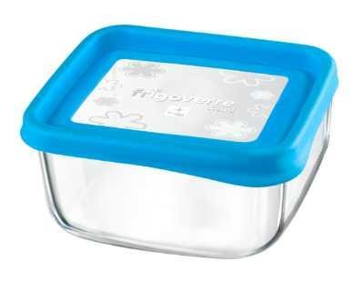 Bormioli Rocco Frigoverre Fun Azzurro szögletes doboz, 15x15 cm, 7,5dl 119799