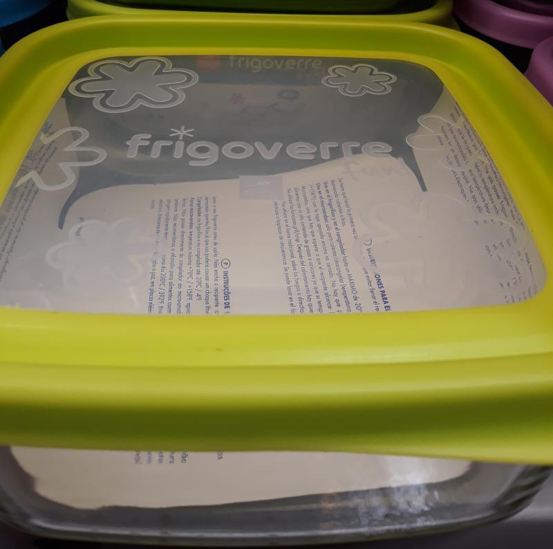 Bormioli Rocco Frigoverre Fun Verde zöld színű szögletes doboz, 19X19 cm, 119680
