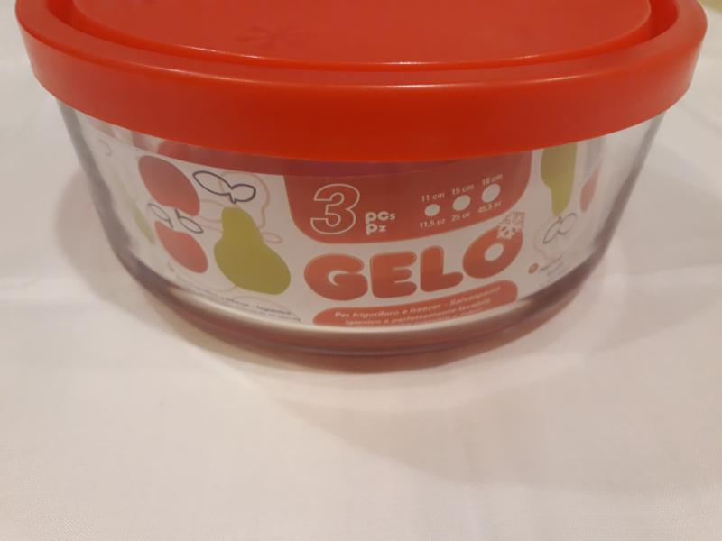 Bormioli Rocco GELO BOX üveg hűtődoboz, 3 db, 11,15,18 cm, 119643