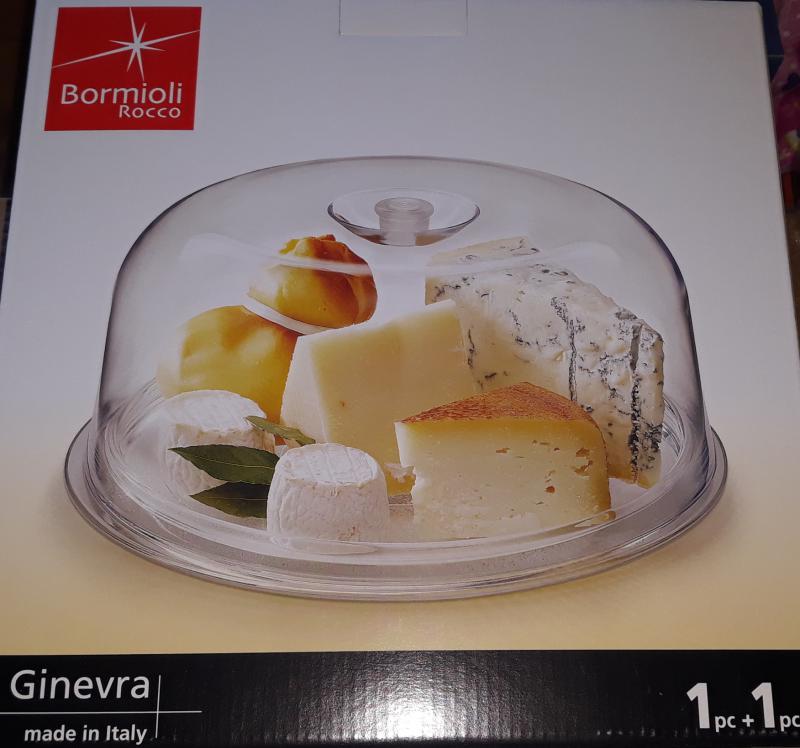 Bormioli Rocco GINEVRA tortatál+műa.búra, 28,5 cm, 119606