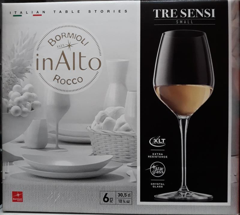 Bormioli Rocco Inalto Tre Sensi talpas pohár, 30,5 cl, 6 db, 119869
