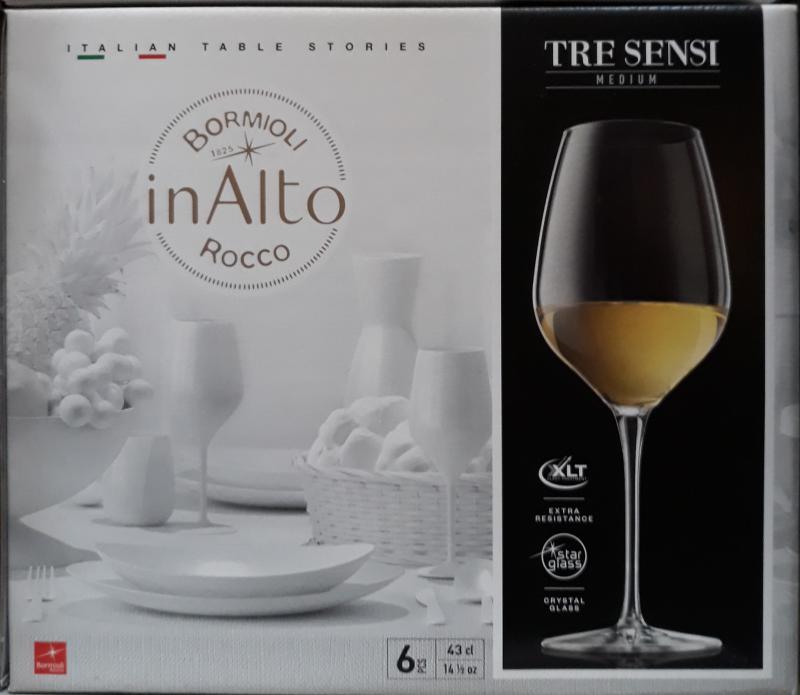 Bormioli Rocco Inalto Tre Sensi talpas pohár, 43 cl, 6 db, 119862