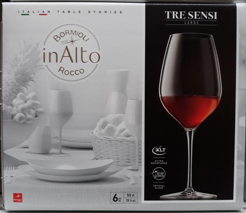 Bormioli Rocco Inalto Tre Sensi talpas pohár, 55 cl, 6 db, 119861