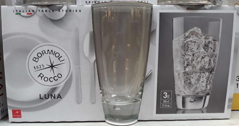 BORMIOLI ROCCO  LUNA-LYBRA üdítős pohár, 34 cl, 3 db, 119725