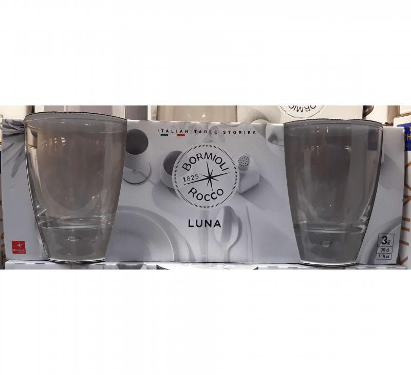 BORMIOLI ROCCO LUNA vizes pohár 34 cl, 3 db, 119724