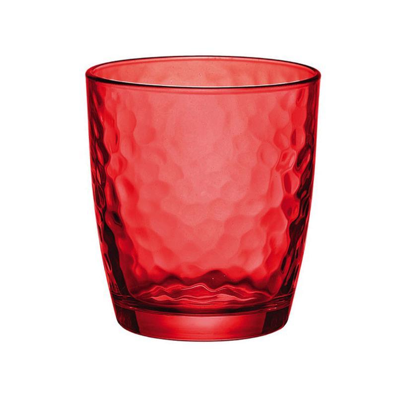 Bormioli Rocco Palatina Multicolor Red (piros) üdítős pohár, 32 cl,