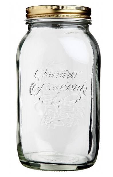 Bormioli Rocco Quattro Stagioni befőttes üveg tetővel, 1 liter, 119322