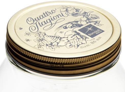 Bormioli Rocco Quattro üveghez tető, 8,6 cm, 2 db, 119511