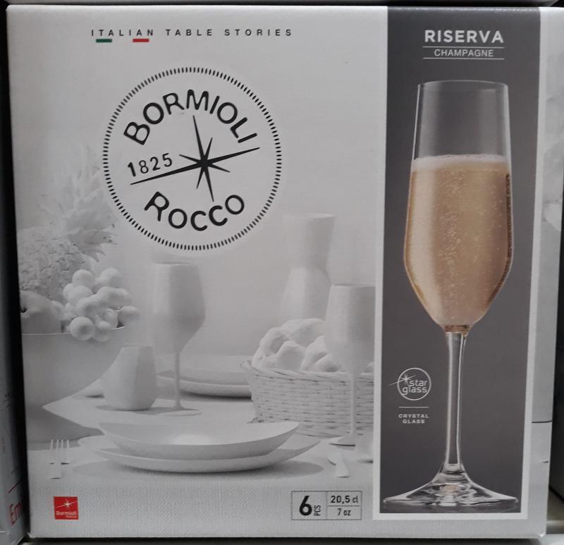 Bormioli Rocco Riserva Champagne 20,5cl, pezsgős pohár 6db, 119870